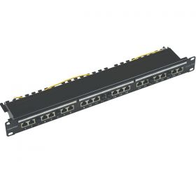 Patch Panel 24P UTP/FTP  CAT6A 1U 10 Giga  01-66-474/24
