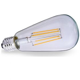 Λάμπα LED Filament ST64 E27 6W 2700K CL VK/05107/E/CL/W